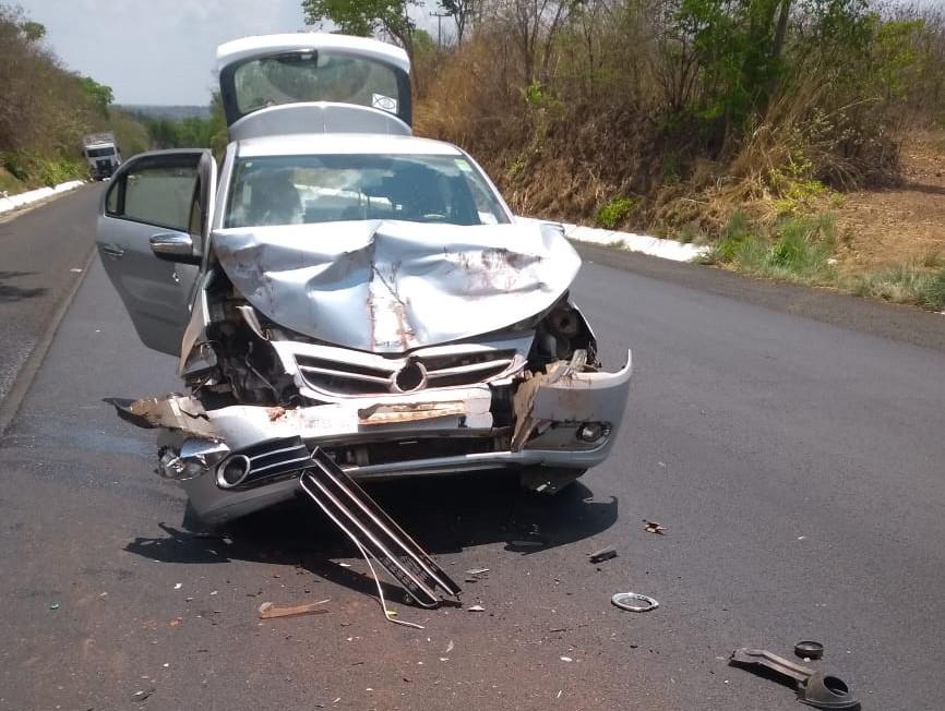 Carro envolvido no acidente (Imagem: Divulgação)