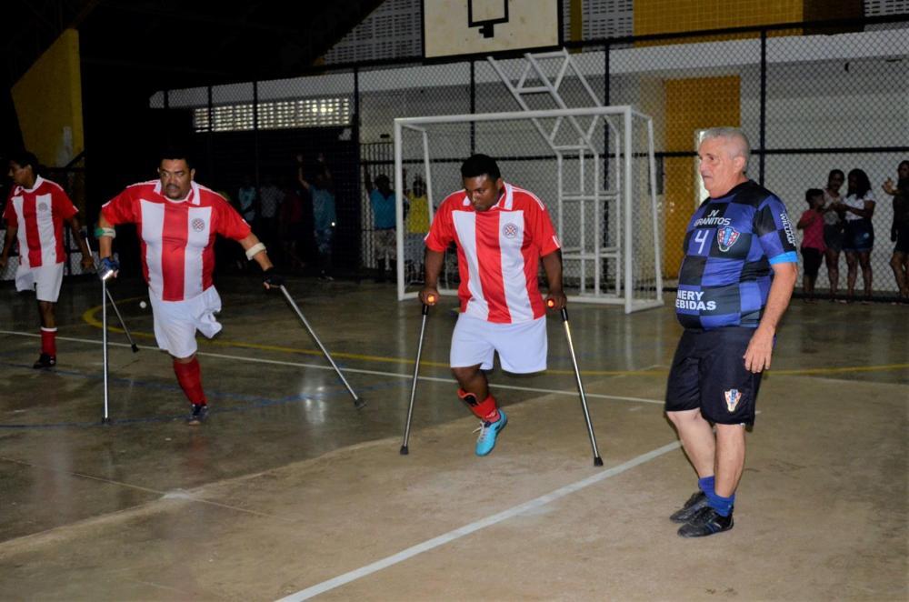 Futsal de amputados (Imagem: Valdomiro Gomes/CANAL 121)