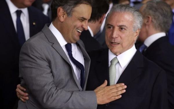 Senador Aécio Neves e presidente Michel Temer agiam juntos para impedir avanço da Operação Lava Jato, segundo o Procurador Geral da República, Rodrigo Janot (Imagem: Reprodução)