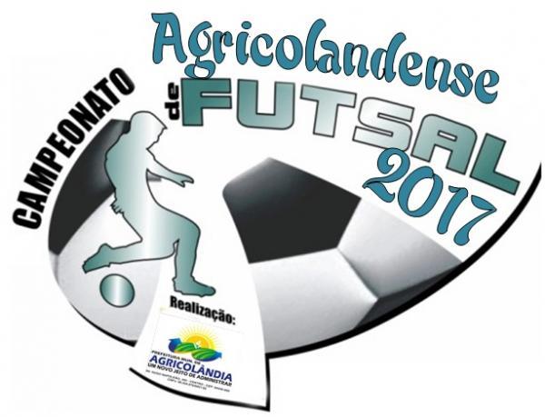Campeonato de futsal começa no próximo sábado, dia 27, em Agricolândia