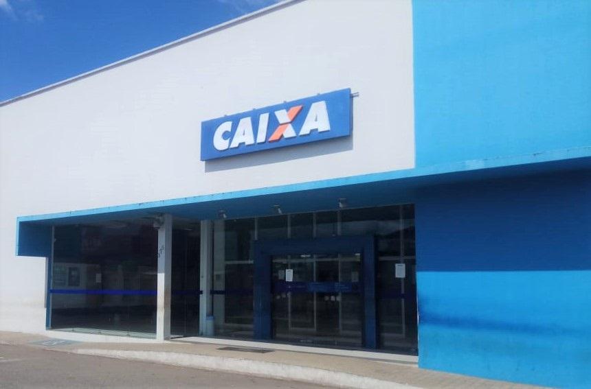 Agência da Caixa Econômica de Água Branca (Imagem: Valdomiro Gomes/CANAL 121)