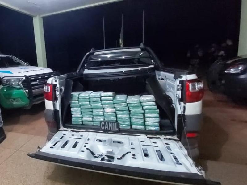 Droga apreendida (Imagem: Divulgação PRF)