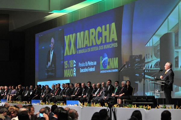 XX Marcha dos prefeitos realizado em Brasília, evento organizado pela CNM (Imagem: Reprodução)